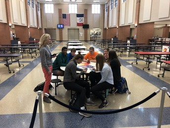 Student led Connections Committee with Dr. Powers supporting groups during activity