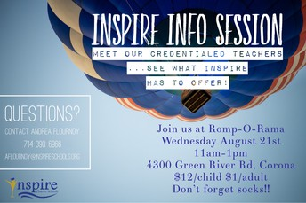 Inspire Info Session CORONA
