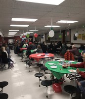Families Enjoying Some Holiday Music by the McKinley Band