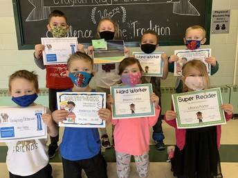 Kindergarten January Awards