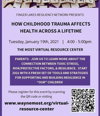 Tonight!Virtual Seminar: How Childhood Trauma Affects Health Across A Lifetime