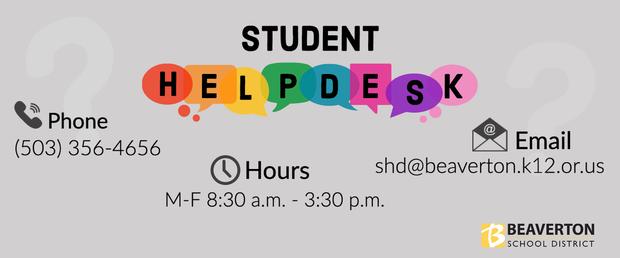 Student help Desk Information