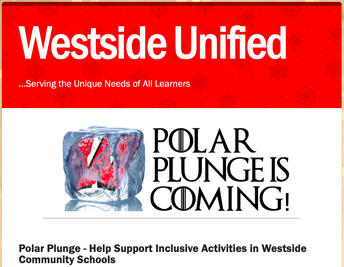 Support Westside Unified Activities - Polar Plunge, Tomorrow - Feb 8th