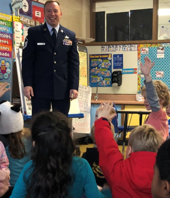 Veteran's Day Visitors Joined Us In Many Classes!