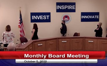 Photo of school board members at October 5, 2020, meeting.