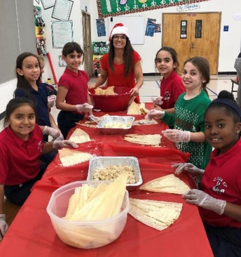 Dual language immersion classes made tamales