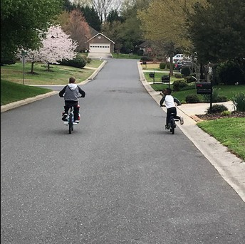 Biking - Ms. Heather's family