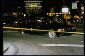 Tupac's car after the shooting