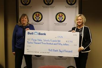 Bell Bank Check Presentation