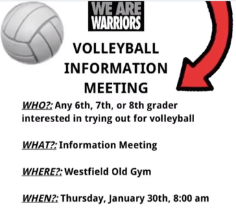 Volleyball Team Information Meeting
