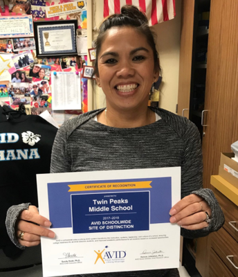Twin Peaks MS Named AVID Site!