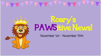 Roary's Latest PAWSitive News!