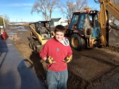 Sophomore, Christian Sharek, Does Eagle Scout Project in Grand View