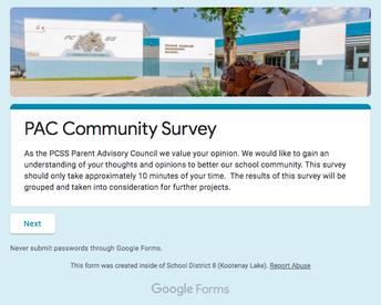 Parent Advisory Council Survey