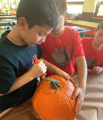 Tackling a pumpkin