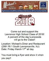 Michael's Diner Fundraiser