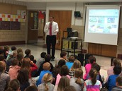 RC Waters 2nd grade enjoys a visit from 13 ABC News Chief Meteorologist Jay Berschback