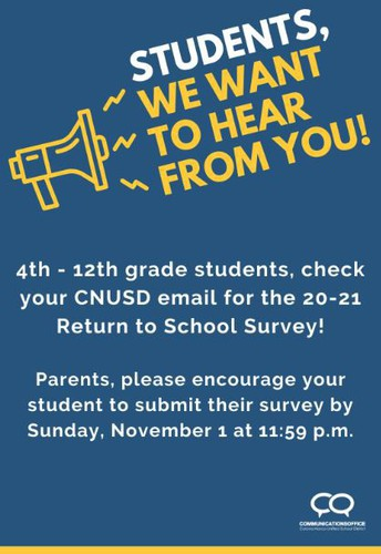 STUDENT SURVEY 4TH- 6TH GRADE
