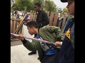 Pole-vaulting?