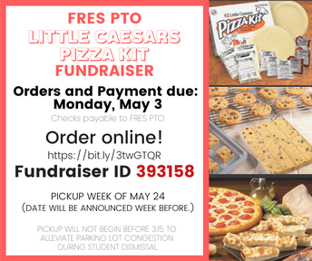 Picture of FRES PTO Pizza Kit Fundraiser flyer