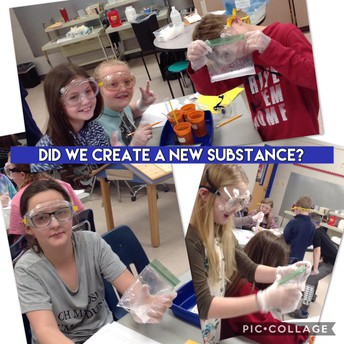 5th Grade Science Creates a new Substance