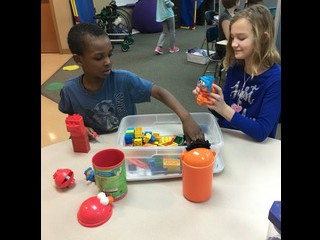 Students enjoyed playing with other classes!