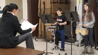 Rehearsing for Band solo and group competition