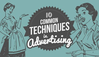 What are some types of advertising techniques?