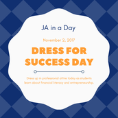 11/2 - Dress for Success Day for JA in a Day