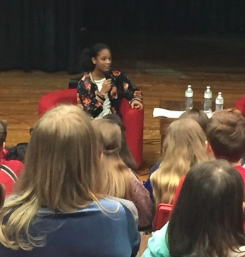 Published Author Alena Pitts Visits Junior High