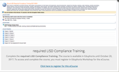 Required LISD compliance training