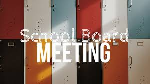 School Board Meeting Info
