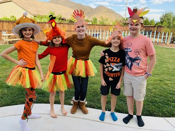 The Everson and Hart children had a great time participating in this years Turkey Trot!