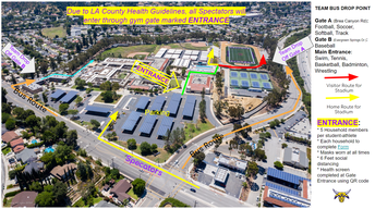 Campus Map - Parking and Spectator Entrance