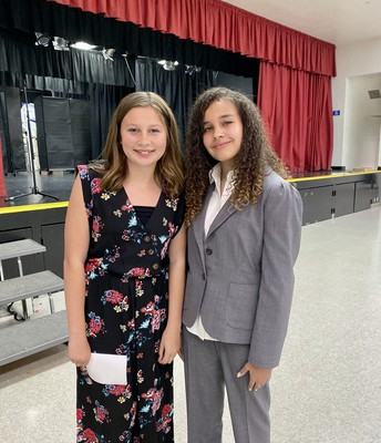 Speech contest winners for Rio, Cameron and Ava.  Ava took 2nd place in the district!