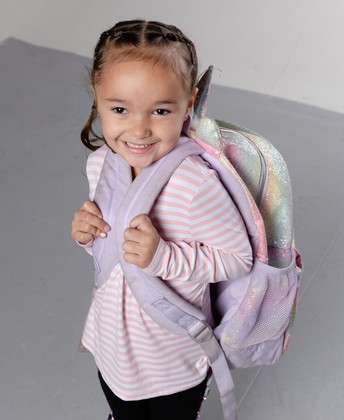 Girl with backpack