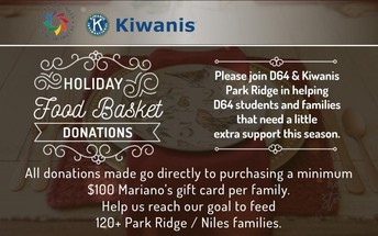 Kiwanis Holiday Food Baskets for D64 Families in Need