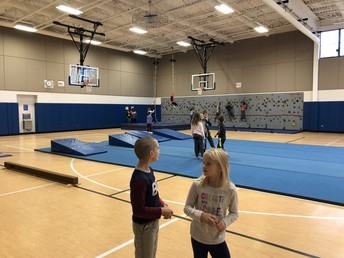 We love the gymnastics unit in Physical Education!