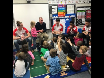 HF Baseball Team Speaks to Western about Kindness