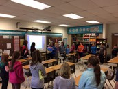 Spanish Club Students Visit OVES
