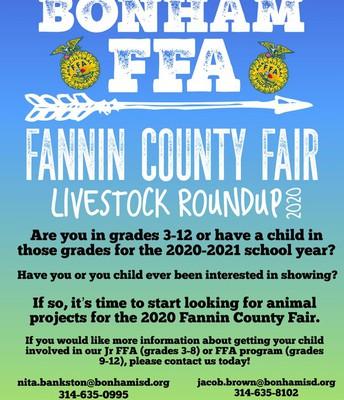Bonham FFA Fannin County Fair Livestock Roundup