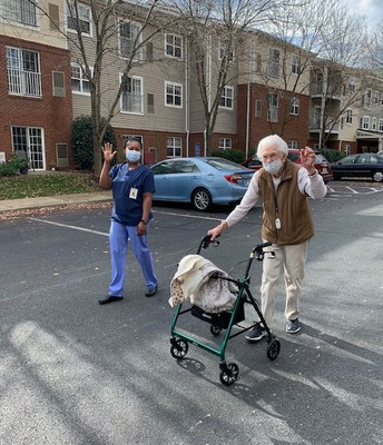Adult Education Nurse Assisting Students Participate in Clinicals at Commmonwealth Senior Living