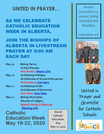 Catholic Education Week May 19-22, 2020