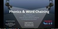 **NEW:  Phonics and Word Chaining Recorded Webinar for Paraprofessionals- FREE