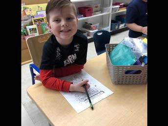 We have a new kindergarten student!