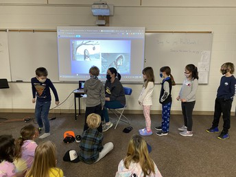 Student leadership in action!  2L led our school assembly.
