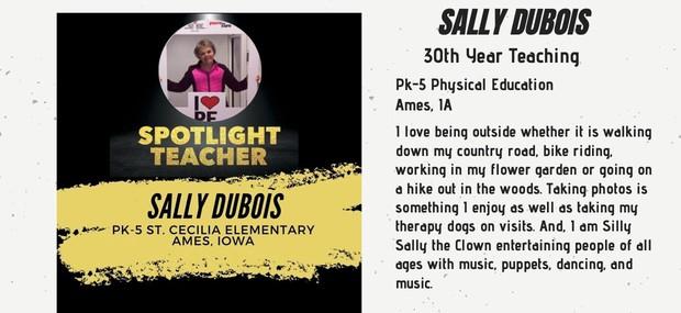 Spotlight Teacher, Sally Shaver Dubois