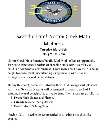 SAVE THE DATE - MATH MADNESS