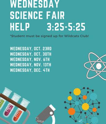 Wednesday Science Fair Help