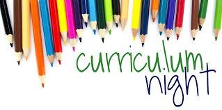 Curriculum Night Date Change